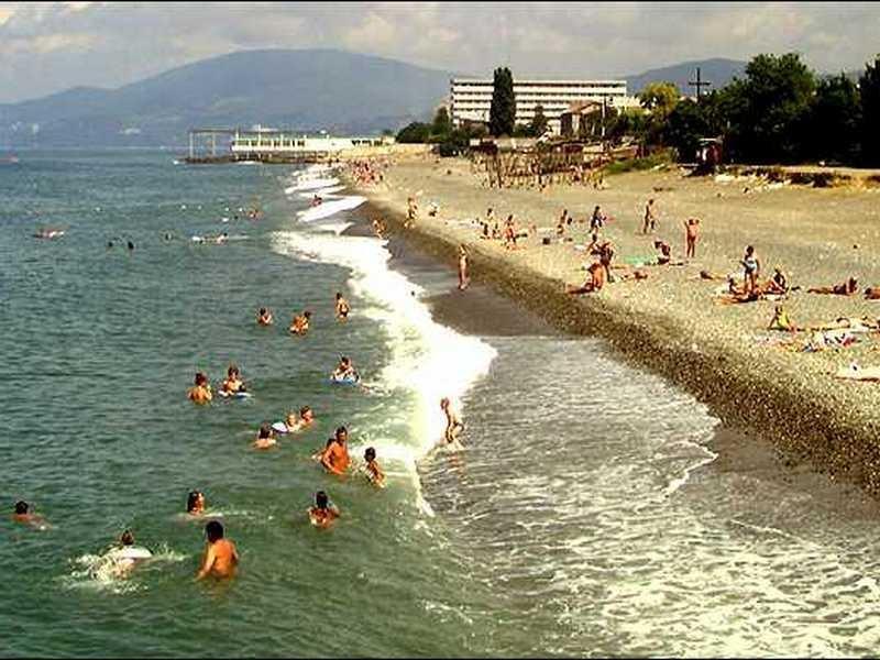 Карта наиболее примечательных мест для отдыха с современной инфраструктурой на черноморском побережье россии